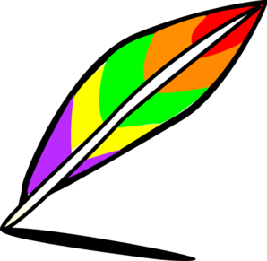298x291 Quill Of Many Colors Clip Art