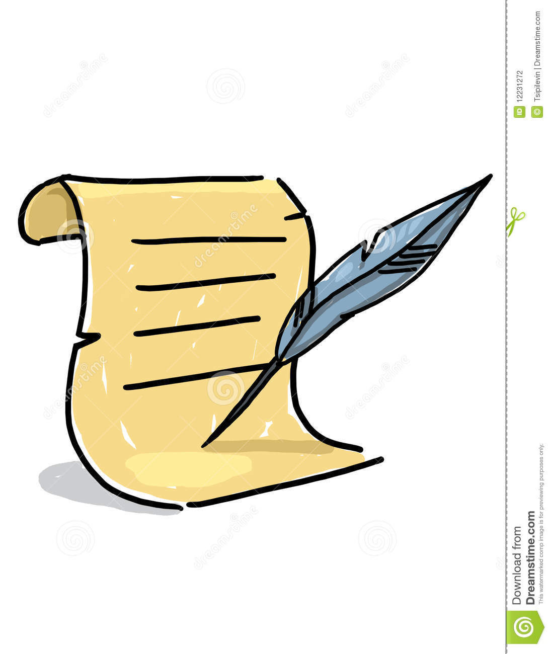1095x1300 Quill Pen And Paper Clipart
