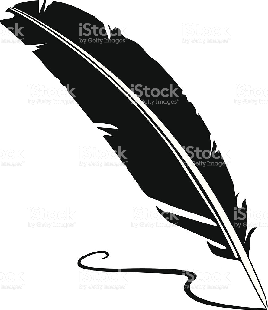 887x1024 Quill Clipart Vector