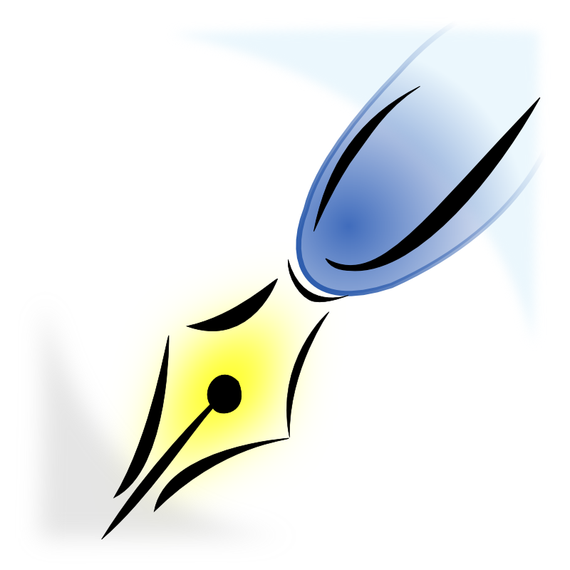 800x800 Quill Pen Clip Art