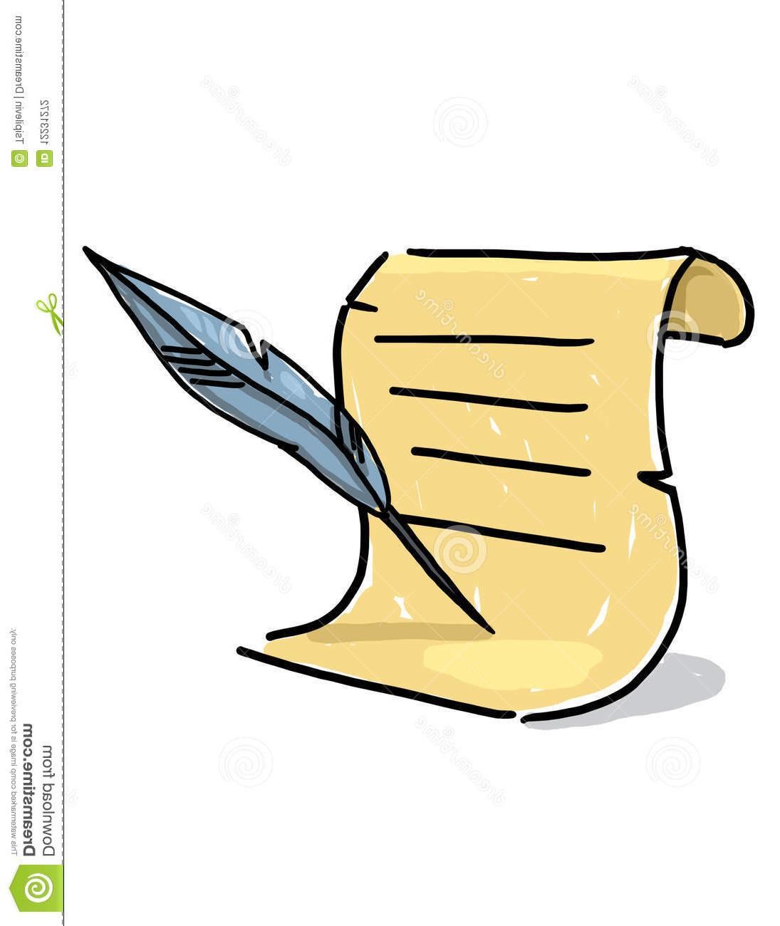 1095x1300 Top Scroll Quill Pen Clipart Drawing
