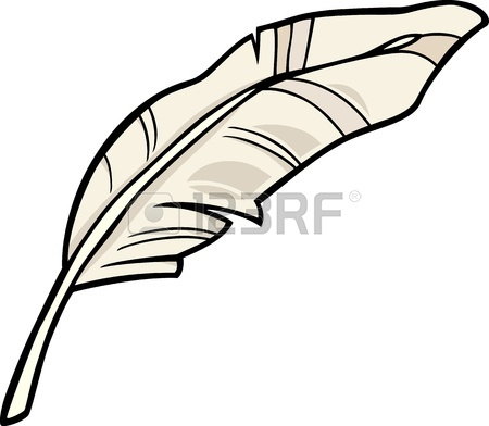 450x392 Cartoon Illustration Of White Feather Clip Art Royalty Free