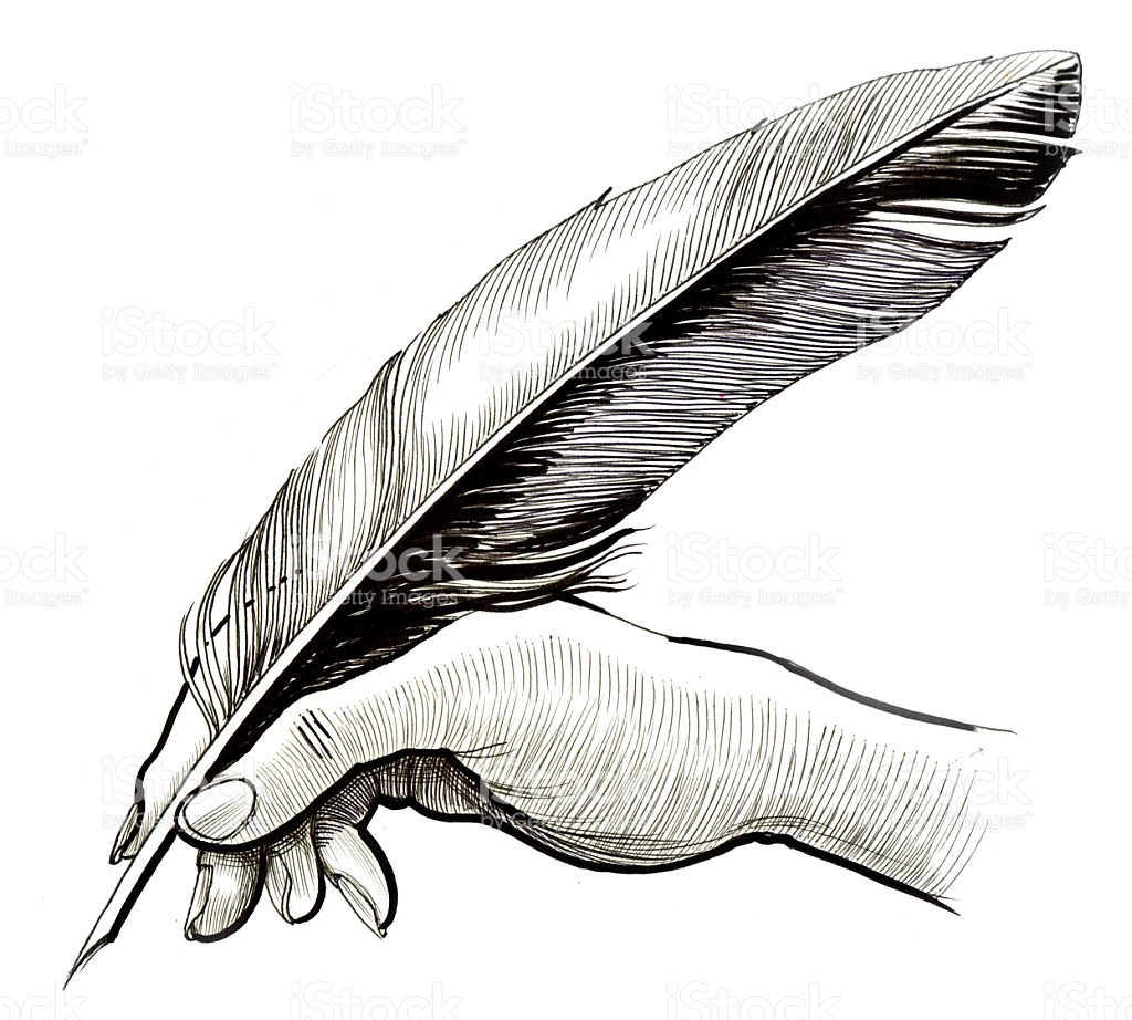 1024x922 Quill Clipart Hand