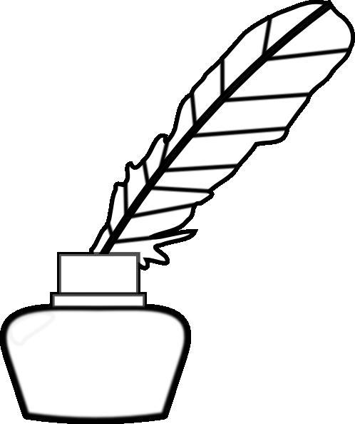498x594 White Quill Pen Clip Art