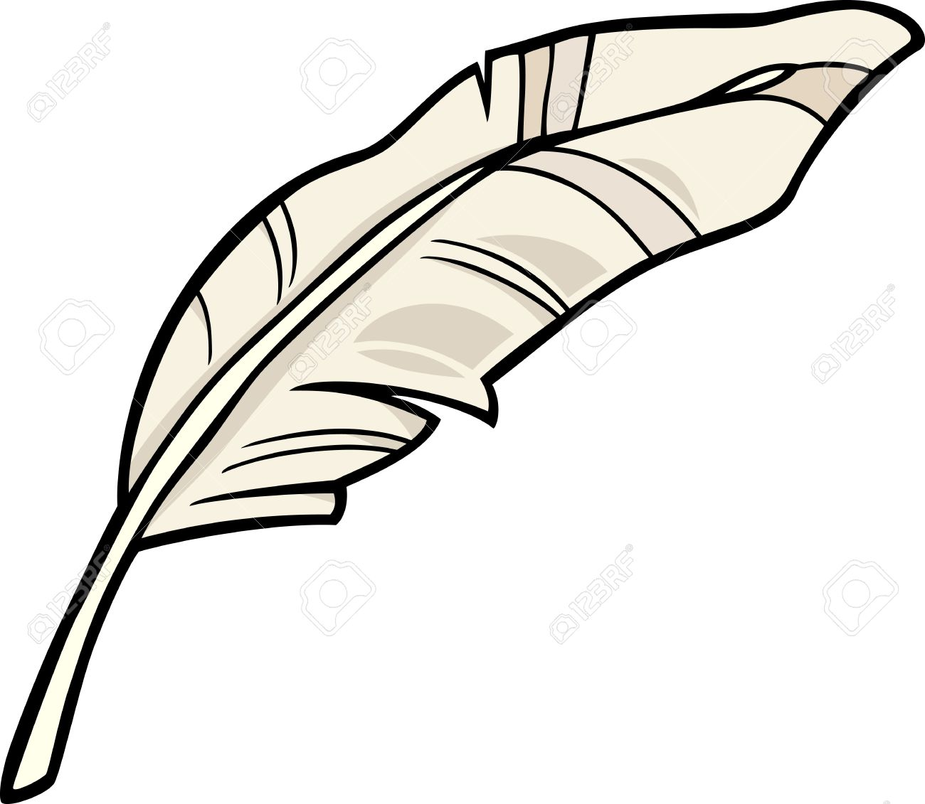 1300x1131 Cartoon Illustration Of White Feather Clip Art Royalty Free