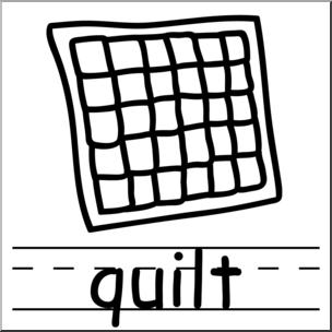 304x304 Clip Art Basic Words Quilt Bampw Labeled I Abcteach