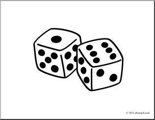 304x236 Dice Clipart Black And White