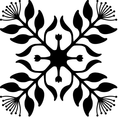 500x499 Hawaiian Quilt Clip Art
