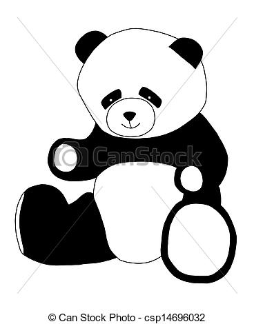 368x470 Panda Clipart Black And White