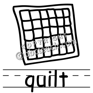 300x300 Square Black And White Quilt Clipart