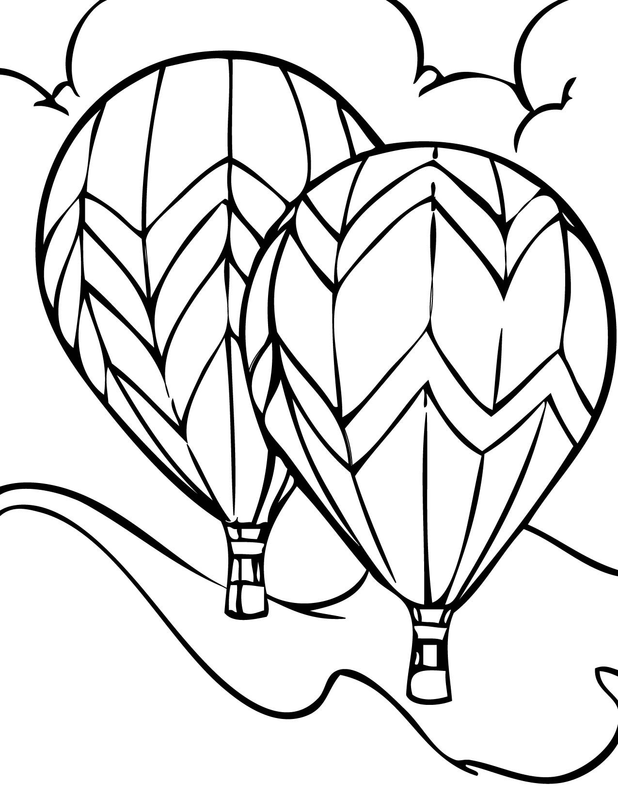 1275x1650 Fantastic Hot Air Balloon Pattern As Unusual Article