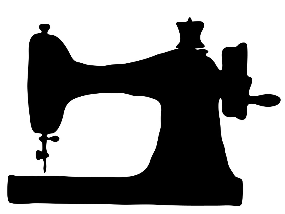 960x720 Sewing Machine Clipart Black And White