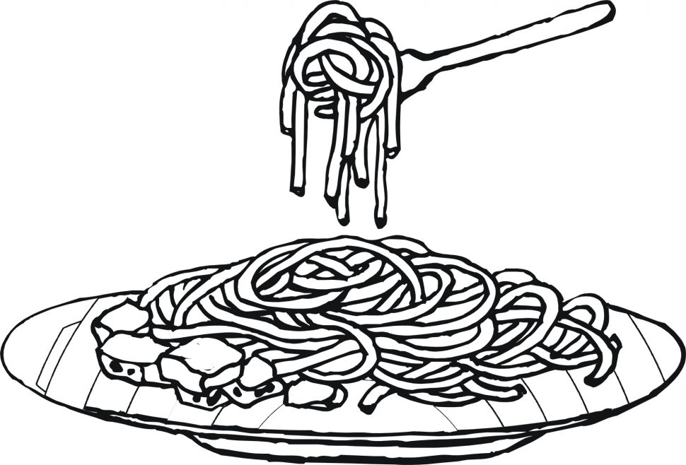 970x658 Coloring Food Coloring Pages Pasta Meat Yum James