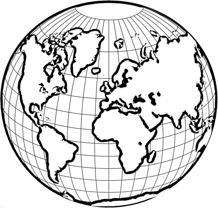 728x695 Coloring Pages World Map The Continents Page Free Of Dezhoufs