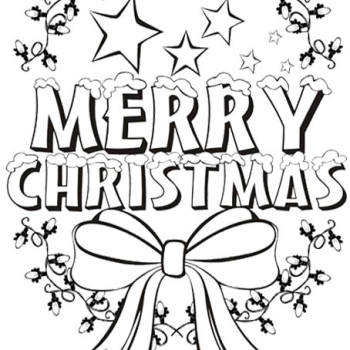 350x350 Cool Merry Christmas Colouring Printable Page Https