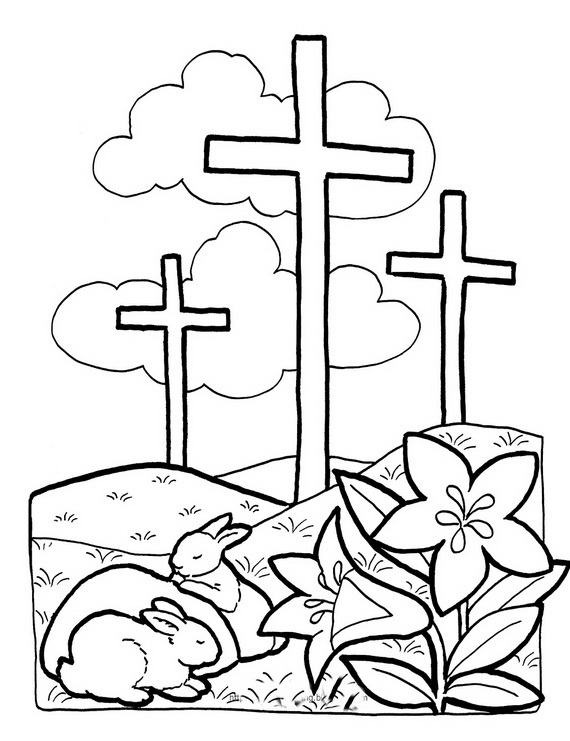 570x741 Good Friday Coloring Pages [Printables]