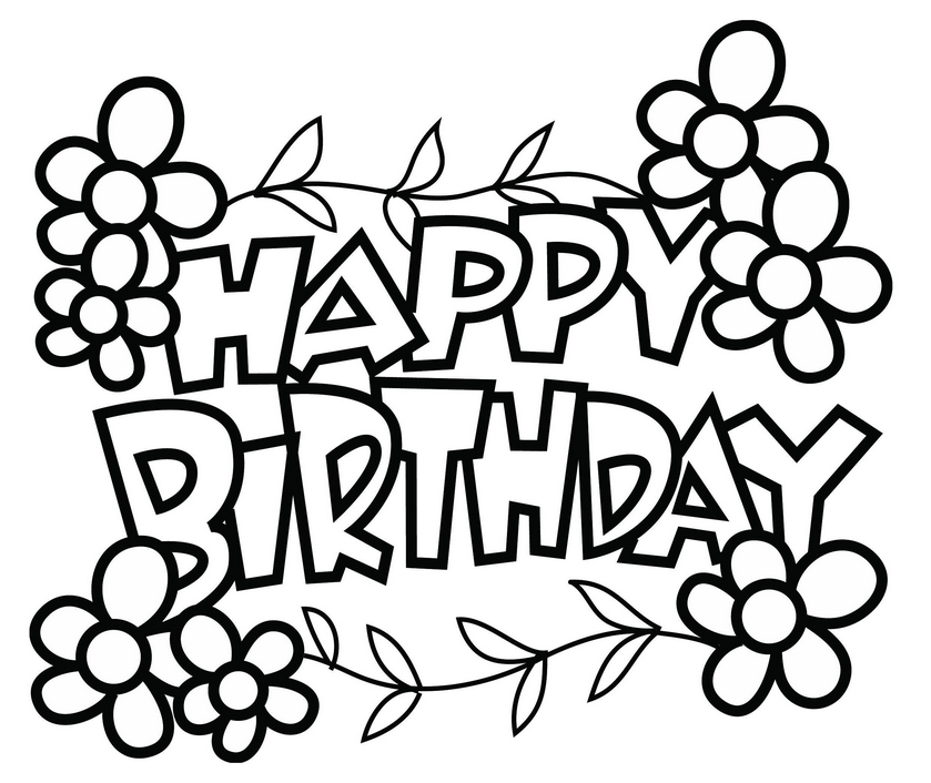 839x706 Happy Birthday Coloring Pages Quotes Moments And Cake