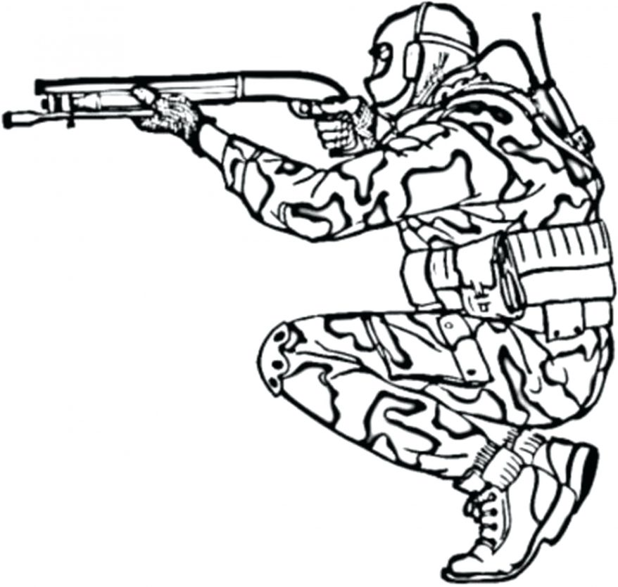 878x835 Military Coloring Pages For Kids Printable Army Page 101 Awesome