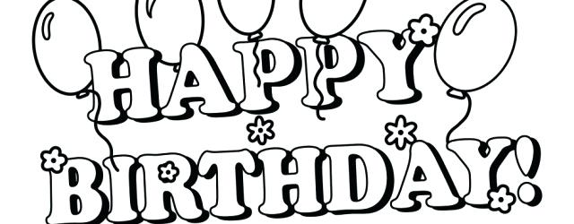 640x250 Amazing Excellent Happy Birthday Color Fee Coloring Pictures 4