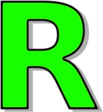 209x227 Capitol R Green Clip Art Download