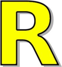 209x227 Capitol R Yellow Clip Art Download