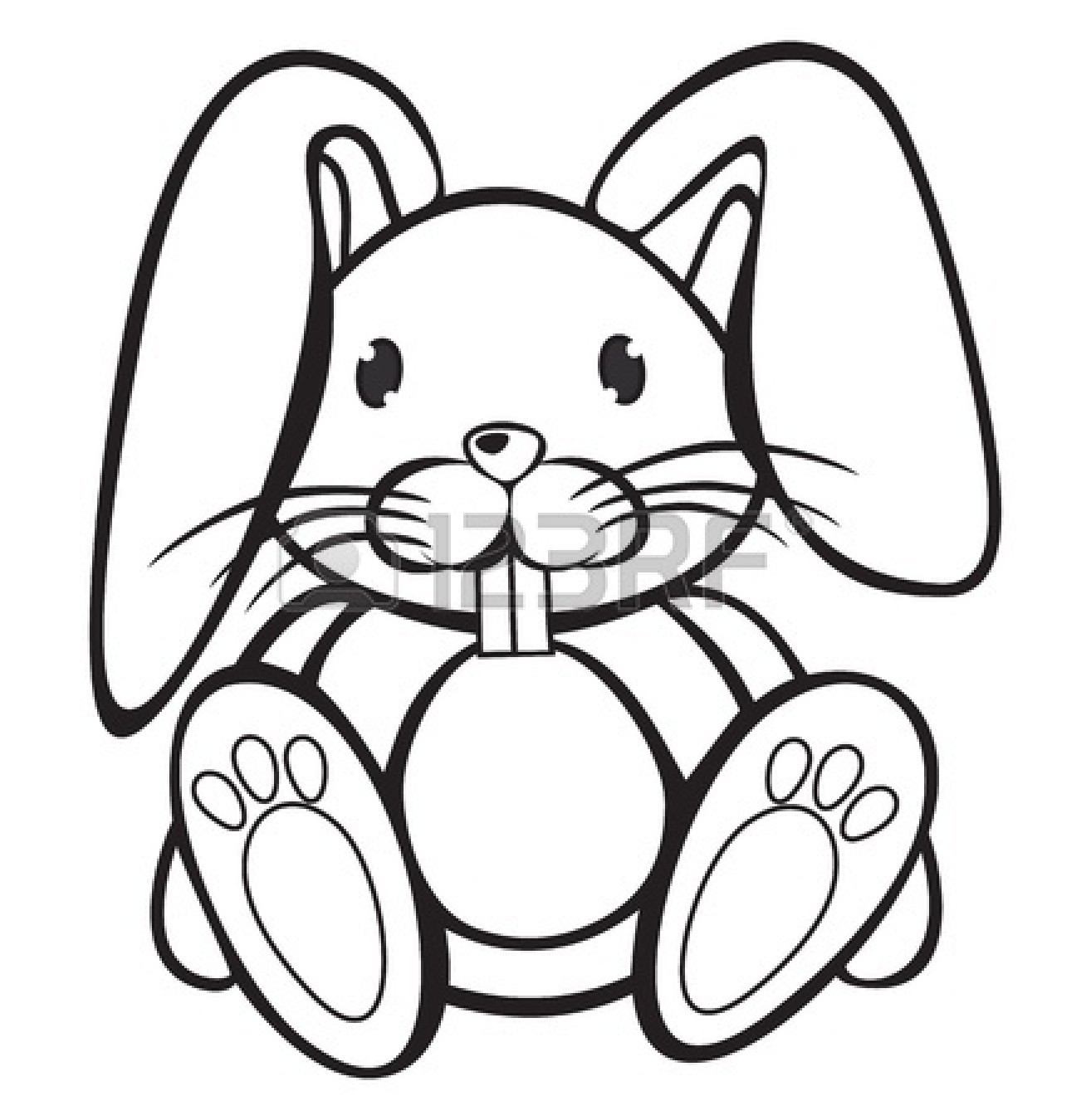 1314x1350 Bunny Black And White Clipart