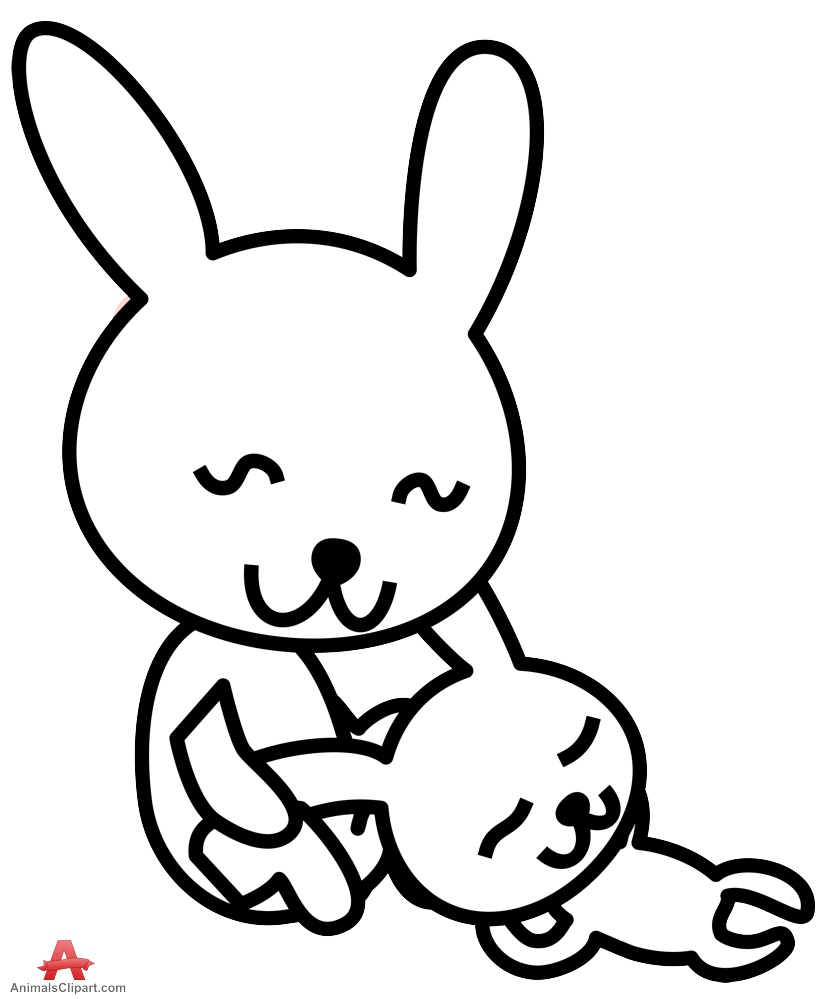 817x999 Outline Two Rabbit Clipart Free Clipart Design Download