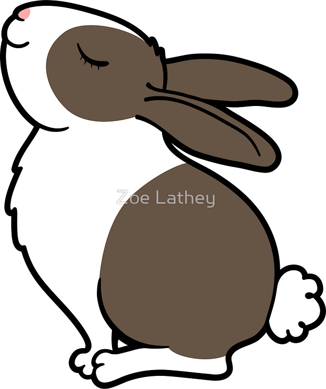 670x800 Proud Bunny Rabbit Stickers by Zoe Lathey Redbubble