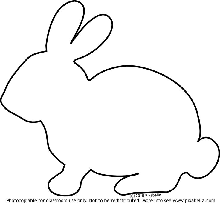 736x680 Rabbit Outline Clip Art (59+)