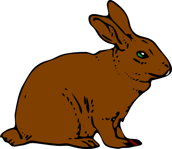 600x519 Brown Rabbit Clip Art