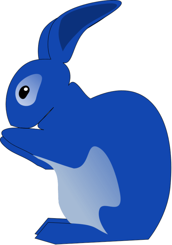 600x851 Rabbit icon clip art