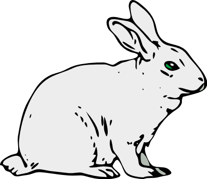 411x355 Free White Rabbit Clipart, 1 Page Of Public Domain Clip Art