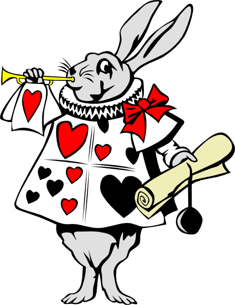 462x599 Rabbit From Alice In Wonderland Clip Art