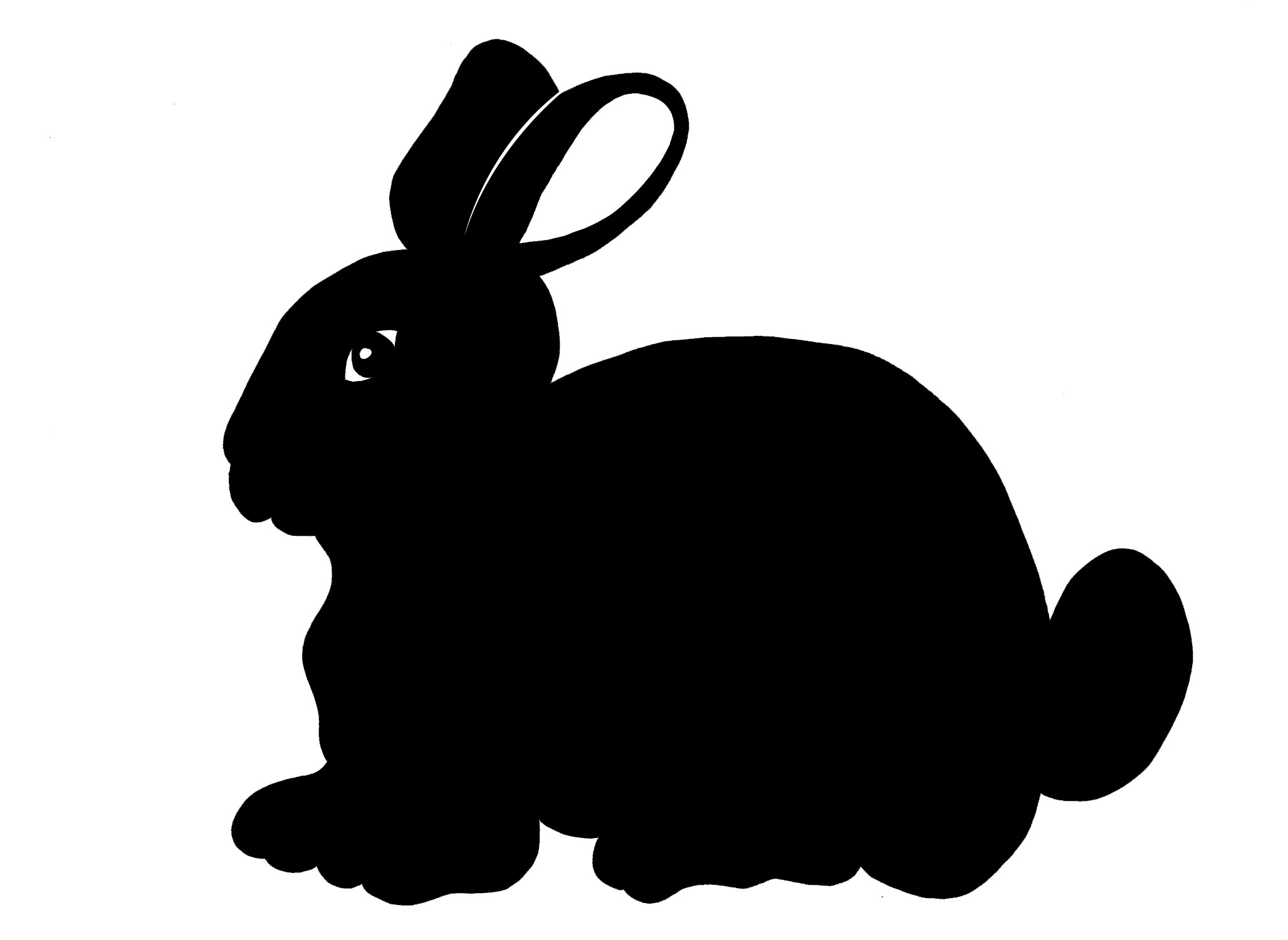2055x1500 Silhouette Clipart Easter Bunny