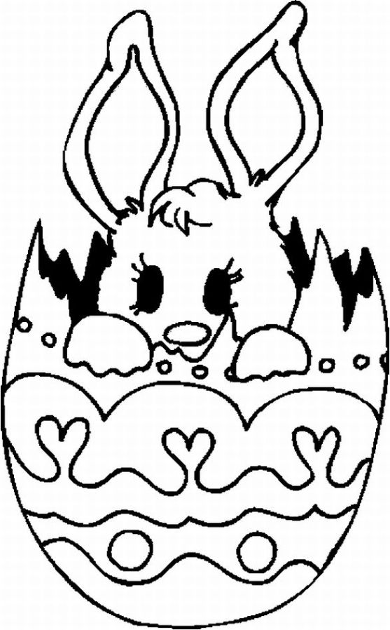 557x898 Happy Easter Bunny Coloring Pages