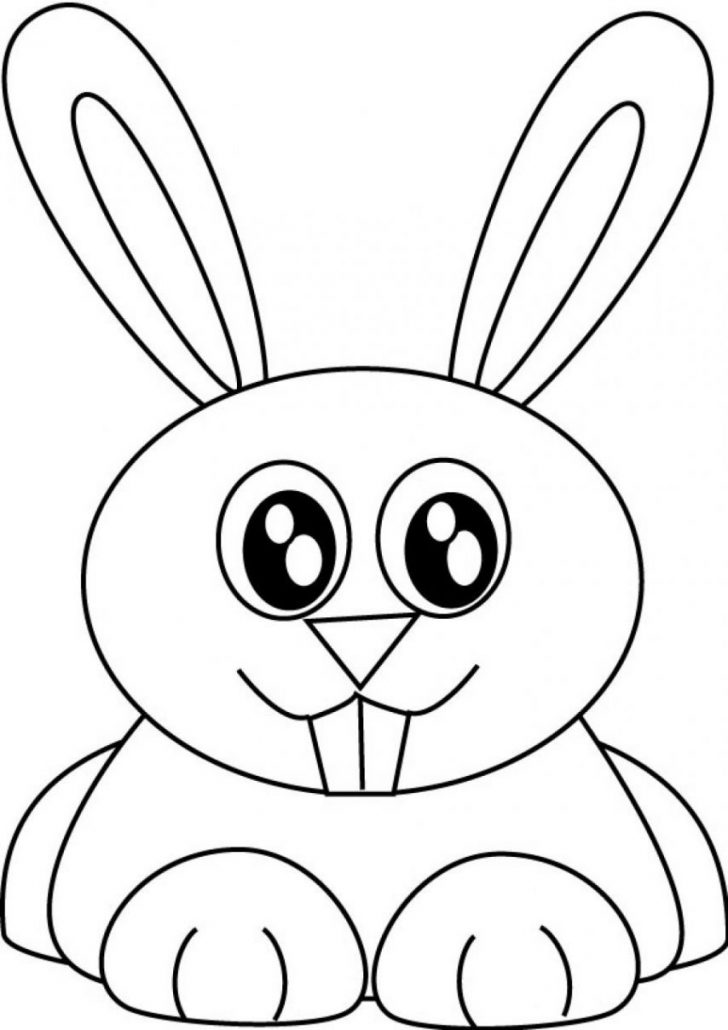 728x1030 Pin Rabbits Coloring Page. Rabbits Coloring Pages Baby Rabbit