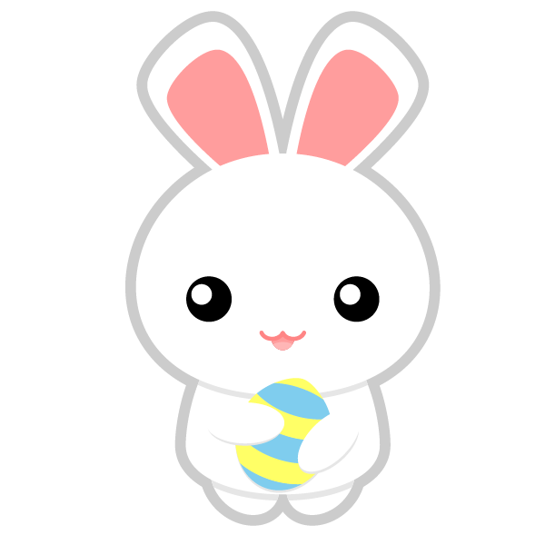 600x600 Cute Face Bunny Clip Art Rabbit Animals Clip Art 2