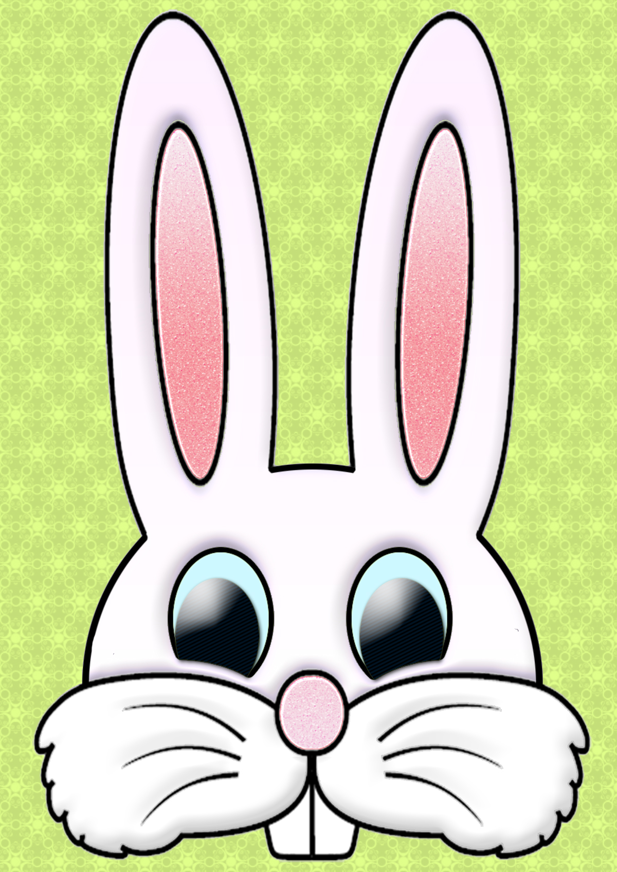 1200x1697 Easter Bunny Face Cut Out Mask A4 Free Wallpaper