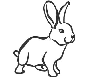 340x270 Bunny Outline Etsy