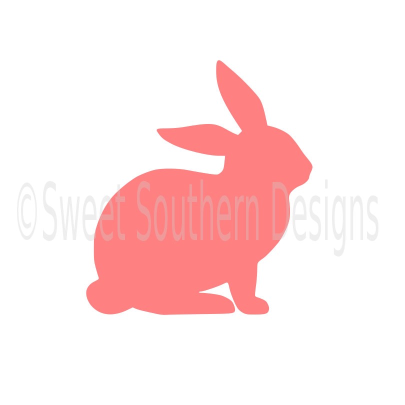 810x810 Bunny Rabbit Outline Easter Spring Svg Dxf Instant Download