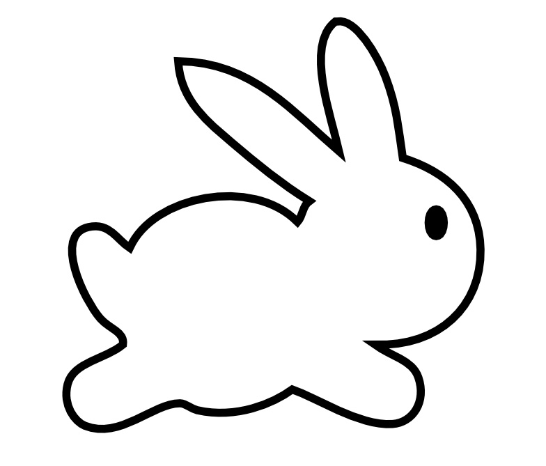 784x669 Drawing Clipart Rabbit
