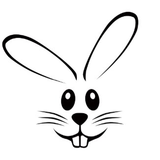 325x325 Rabbit Head Clipart