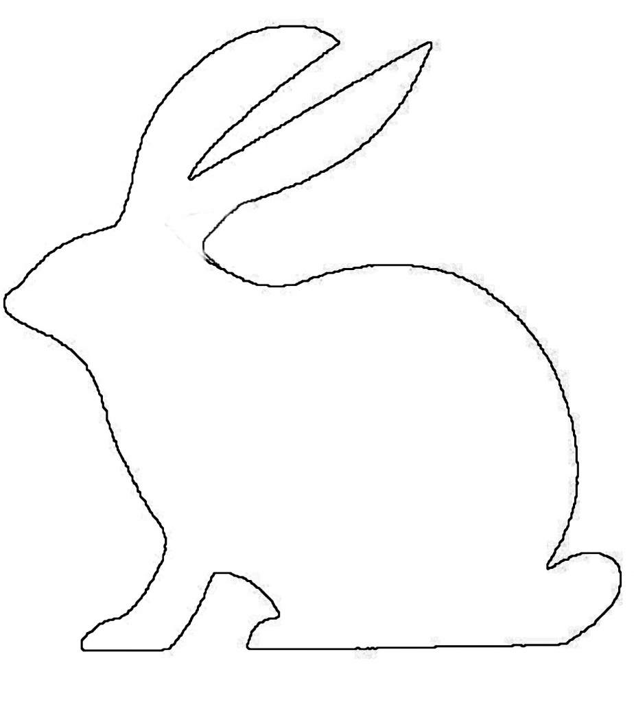 924x1024 A Drawing Of A Rabbit Best Photos Of Rabbit Line Out Bunny Rabbit