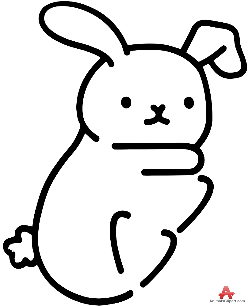 809x999 Rabbit Outline Drawing Free Clipart Design Download
