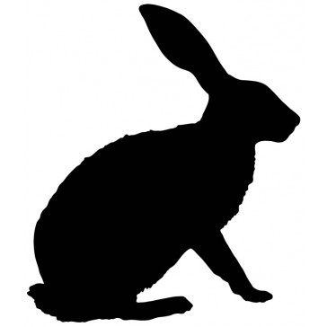 364x364 Rabbit Silhouette Bunny Outline Farmyard Animals Wall Sticker Wall