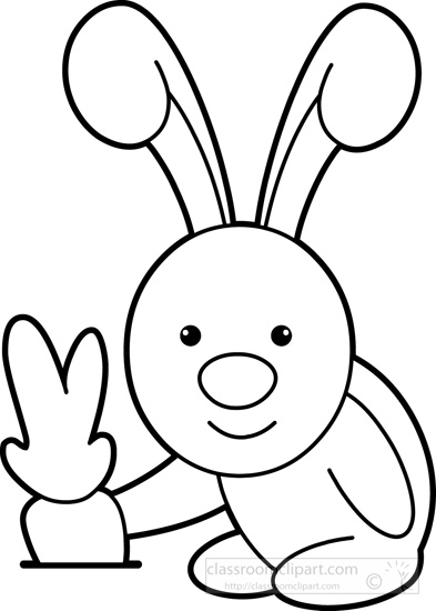 393x550 Animals Clipart Cute Little Rabbit Pulling Out Carrot From Ground