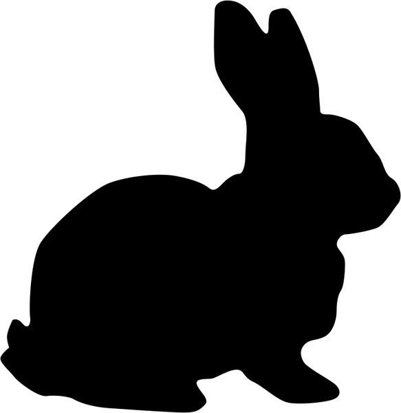 583x600 Standing Rabbit Outline Free Vector Download (5,777 Free Vector