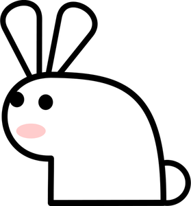 Rabbit Running Clipart
