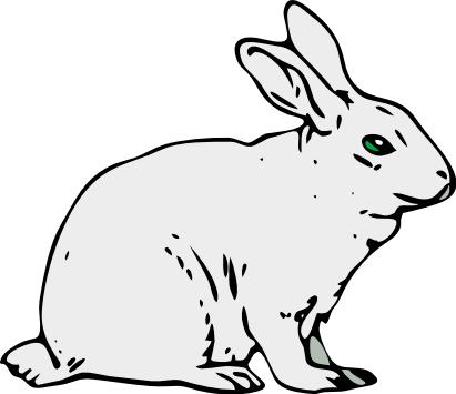 411x355 Free Rabbit Clipart
