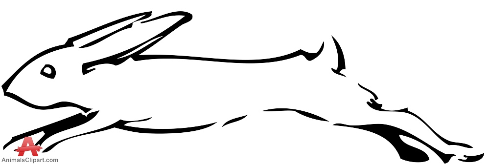999x338 Sketch Of Running Rabbit Stencil Clipart Free Clipart Design